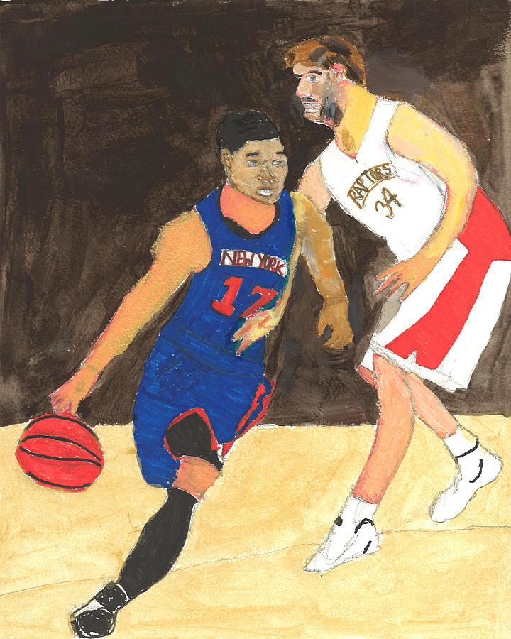 Ny Knicks Painting - Jeremy Lynn The Amazing by Nat Solomon