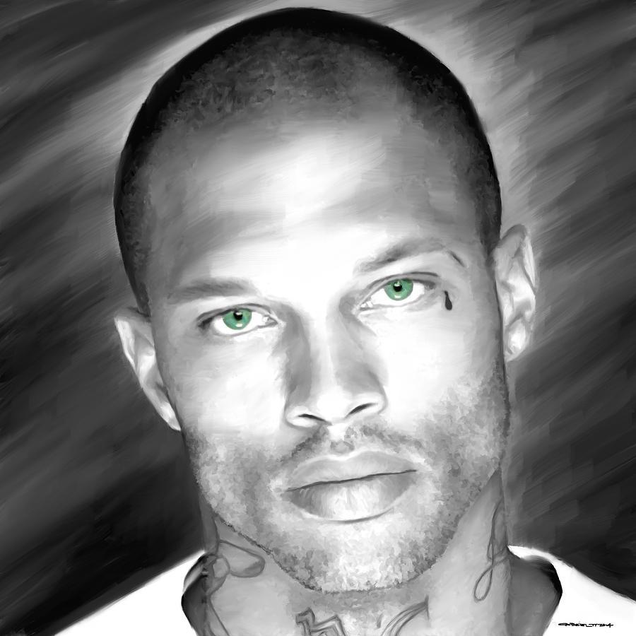 Jeremy Meeks Digital Art - Jeremy Meeks Large Size Portrait by Gabriel T Toro