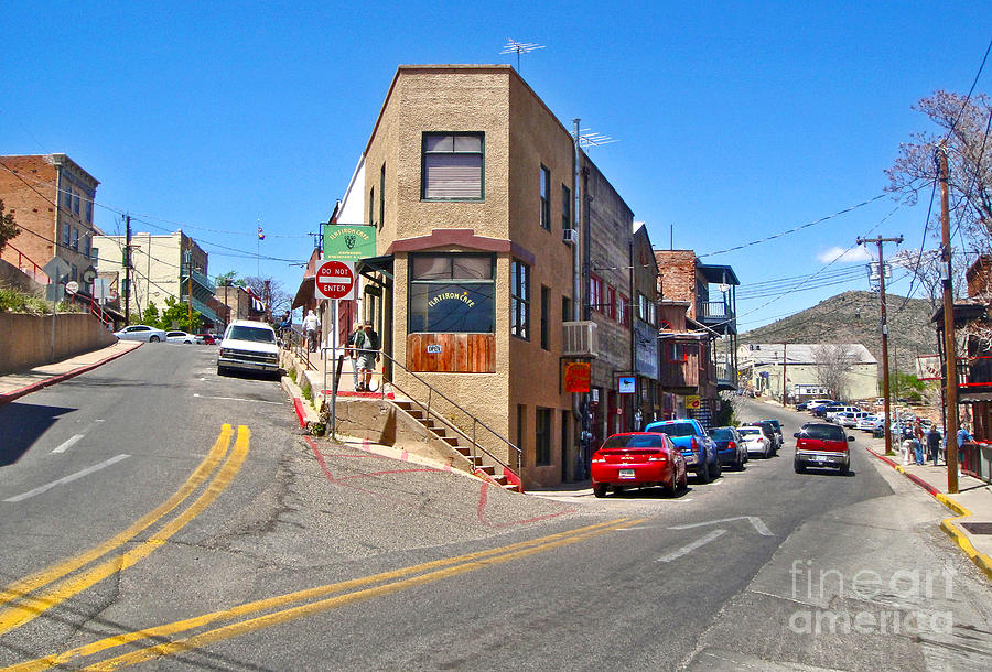 Flatiron Cafe Photograph - Jerome Arizona - Flatiron Cafe - 01 by Gregory Dyer