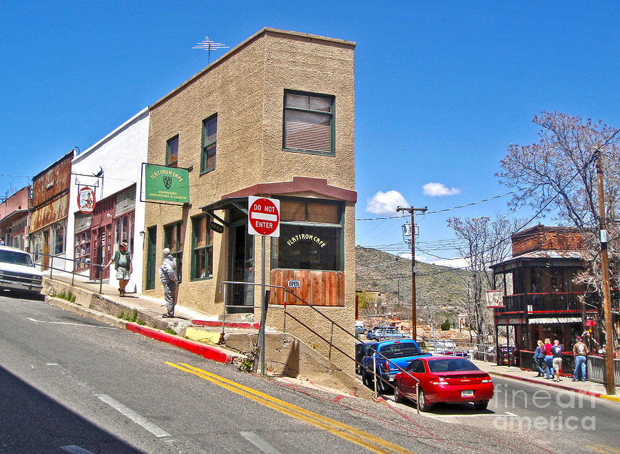 Jerome Arizona Photograph - Jerome Arizona - Flatiron Cafe - 02 by Gregory Dyer