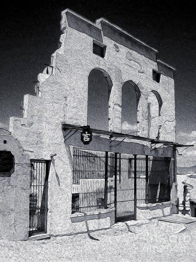 Adobe Painting - Jerome Arizona - Jailhouse Ruins by Gregory Dyer