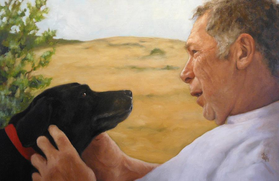 Portrait Painting - Jerry And Ebby by Deborah Allison