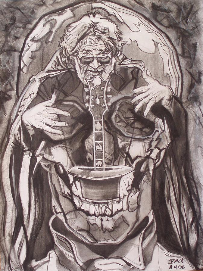 Jerry Garcia . . Magic Is What We Do - Music Is How We Do It Drawing by Sean Connolly
