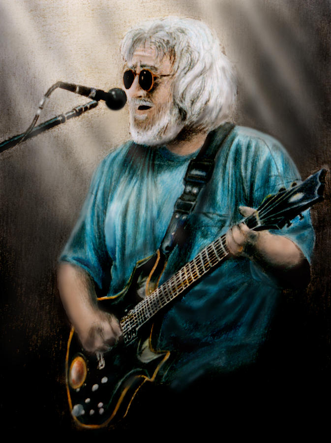 1960s Painting - Jerry Garcia By Edward Pollick by Edward Pollick