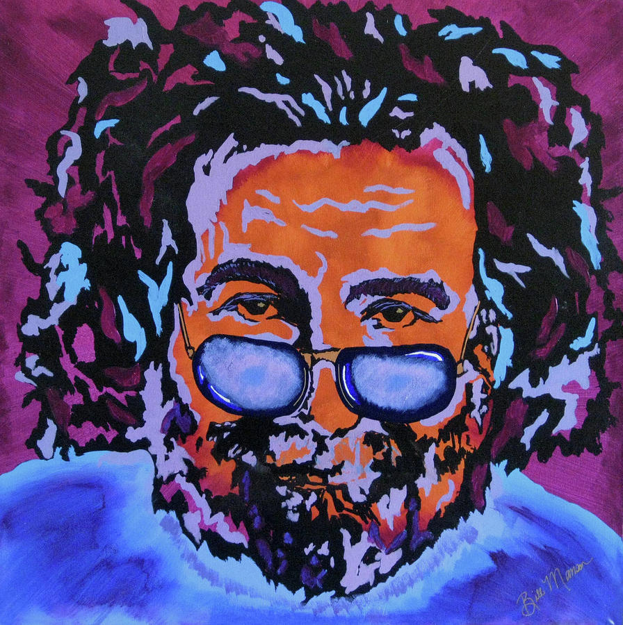 Jerry Garcia Paintings Painting - Jerry Garcia-its A Me Thing by Bill Manson