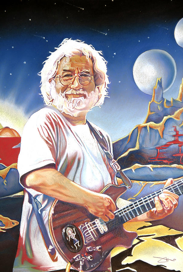 Jerry Garcia Drawing - Jerry Garcia Live At The Mars Hotel by Joshua Morton
