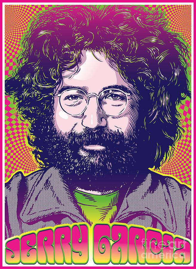 Jerry Garcia Pop Art Digital Art By Jim Zahniser