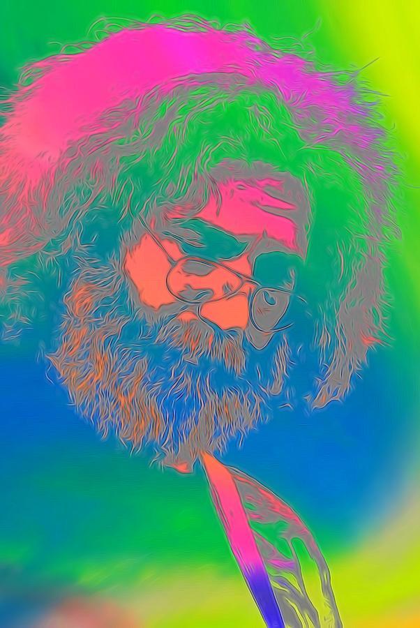 Jerry Garcia Tie Dye Digital Art