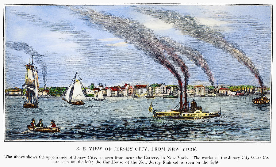 1844 Painting - Jersey City, 1844 by Granger