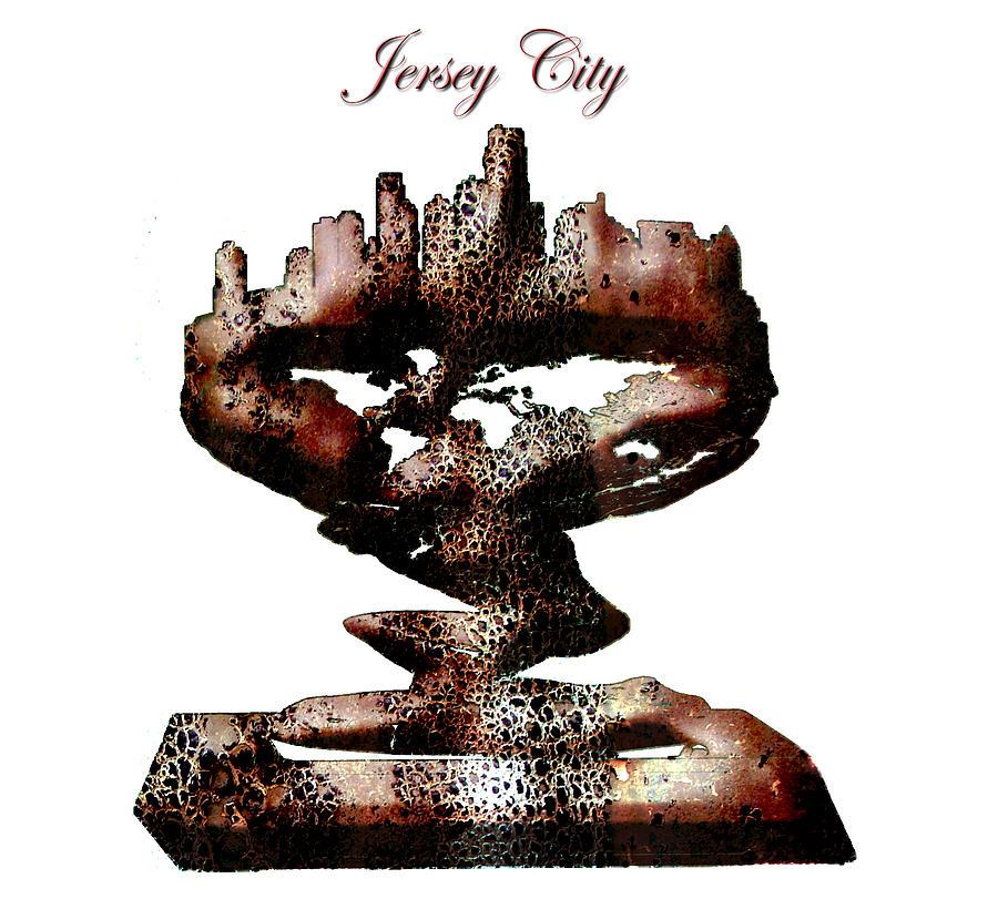 Jersey City Digital Art - Jersey City  by Brian Reaves