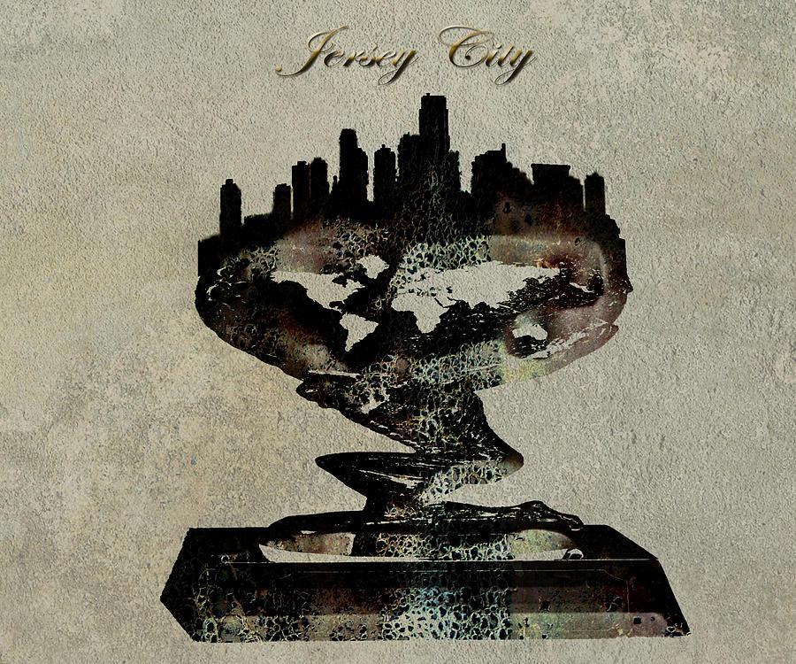 Jersey City Digital Art - Jersey City Skyline by Brian Reaves