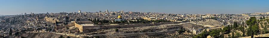 Jerusalem Old City Panorama Photograph by Ilan Shacham