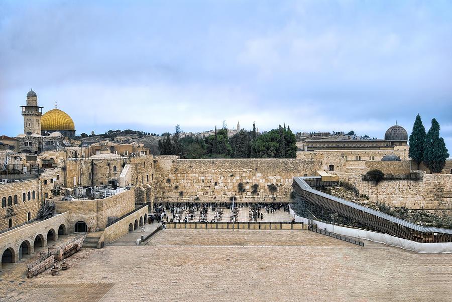 Jerusalem Photograph - Jerusalem the western wall by Ron Shoshani