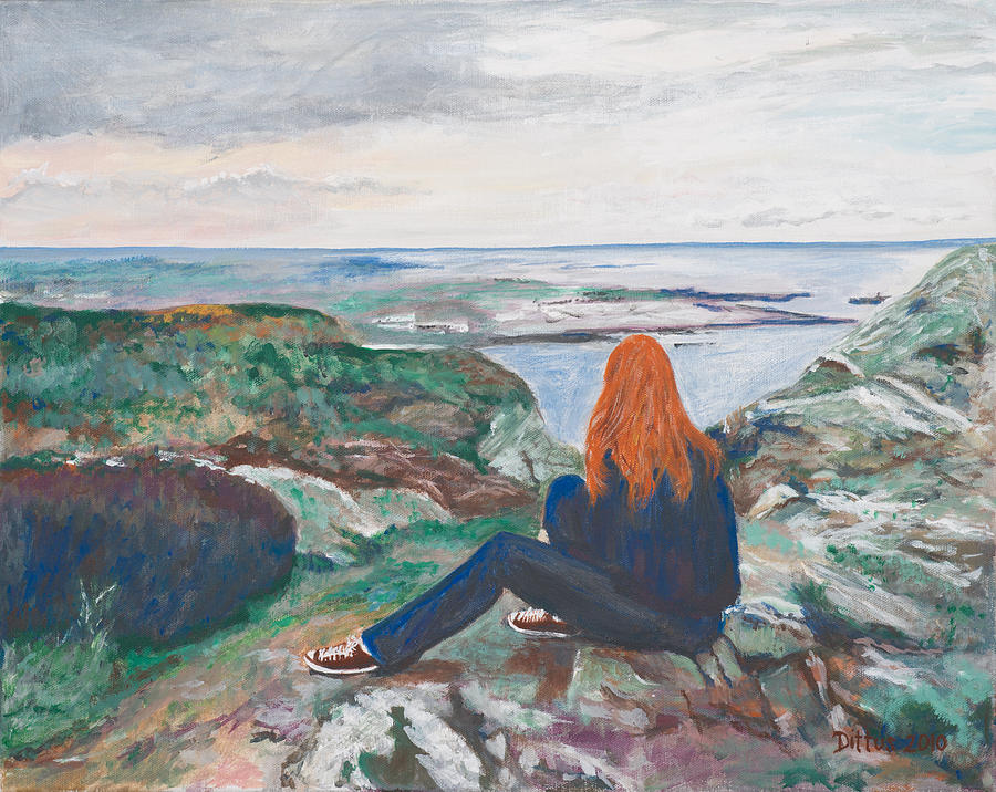 Ireland Painting - Jess In Ireland by Chrissey Dittus