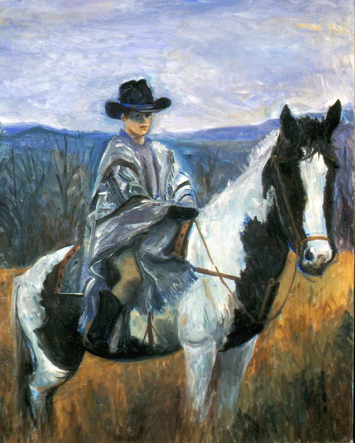 Horse Painting - Jesse On Dakota by Ethel Vrana