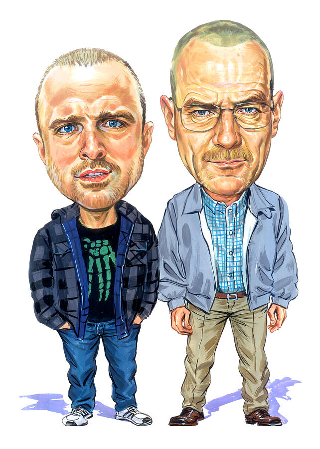 Jesse Pinkman Painting - Jesse Pinkman And Walter White by Art