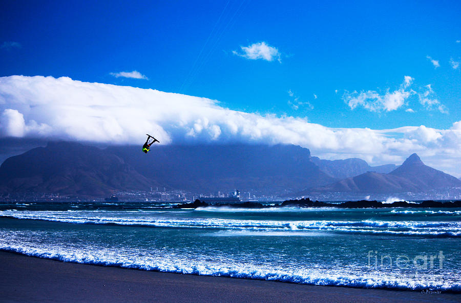 Capetown Photograph - Jesse - Redbull King Of The Air Cape Town - Table Mountain  by Charl Bruwer