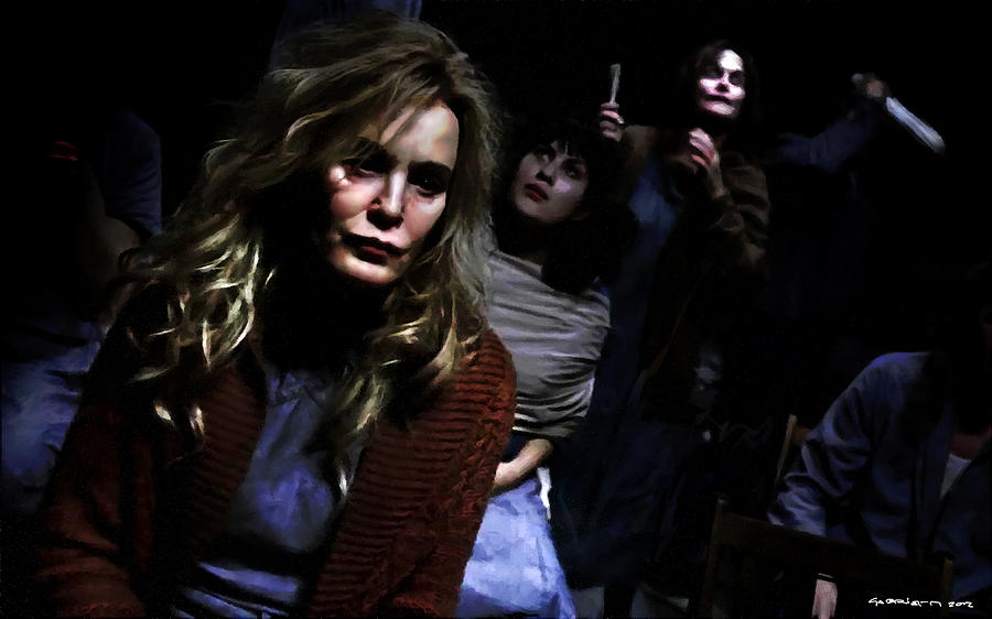 Jessica Lange Digital Art - Jessica Lange as Sister Jude @ TV serie American Horror Story Asylum by Gabriel T Toro