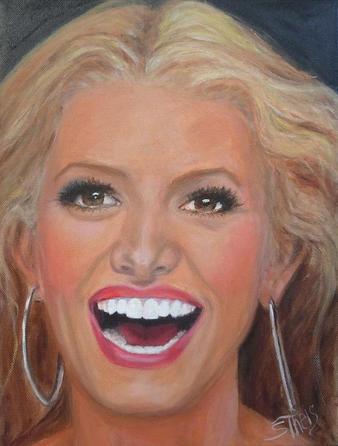 Jessica Simpson Painting - Jessica Simpson by Shirl Theis