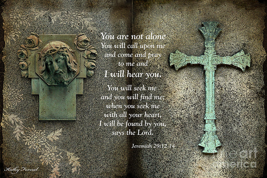 Jesus And Cross - Inspirational - Bible Scripture Photograph by Kathy Fornal