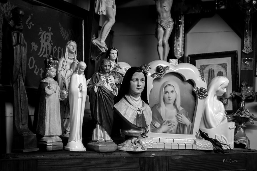 Jesus Photograph - Jesus And Mary At The Curio Shop by Bob Orsillo