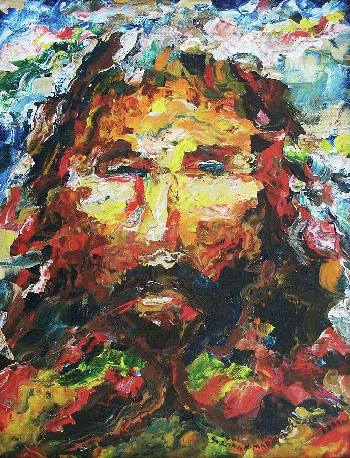 Jesus Painting - Jesus Are You There by Suzanne  Marie Leclair