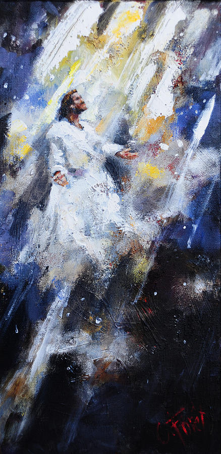 Jesus Ascending Painting By Carole Foret