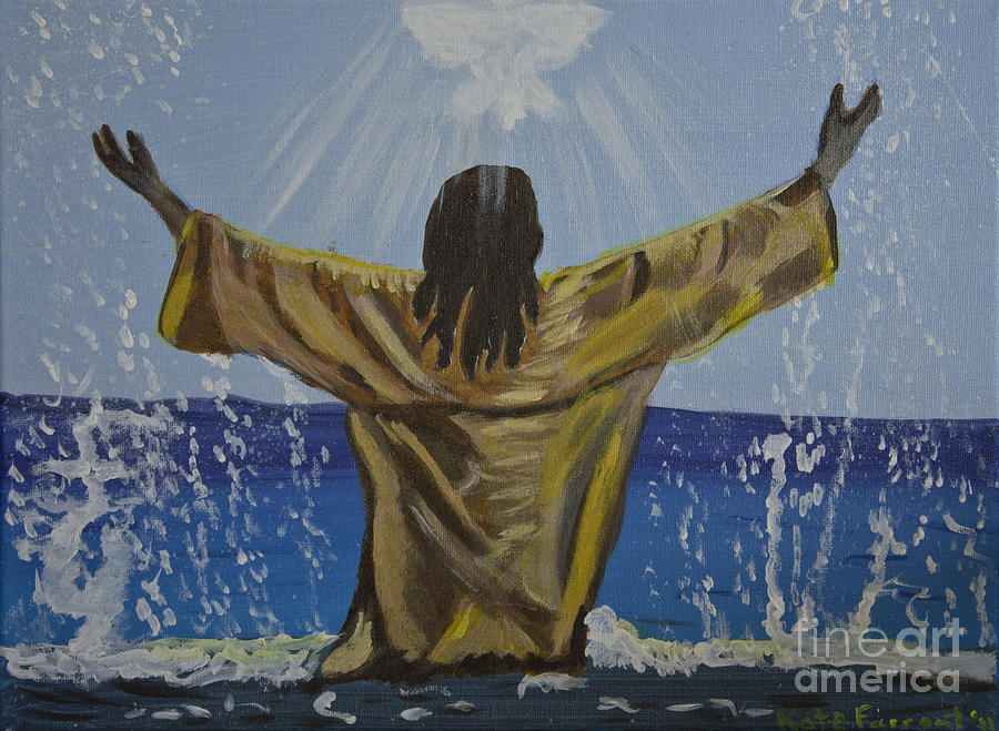 Jesus Painting - Jesus Baptism by Kate Farrant