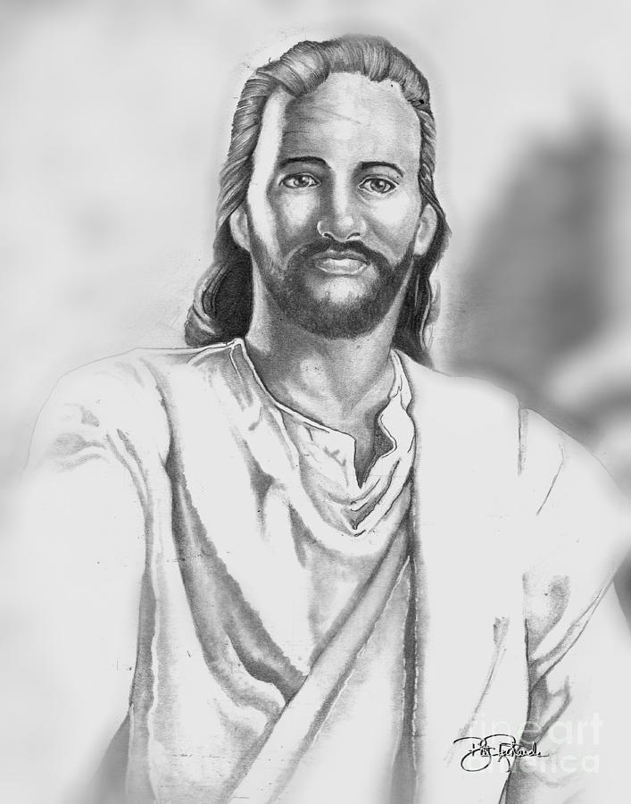 Jesus Drawing - Jesus by Bill Richards