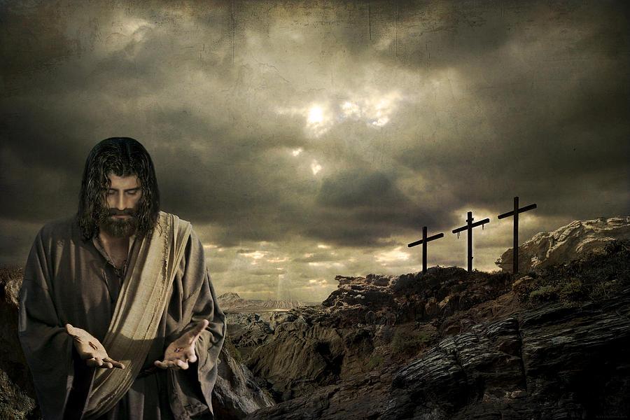 Jesus christ a sacrifice of atonement photograph by acropolis de versailles - Wallpaper de jesus ...