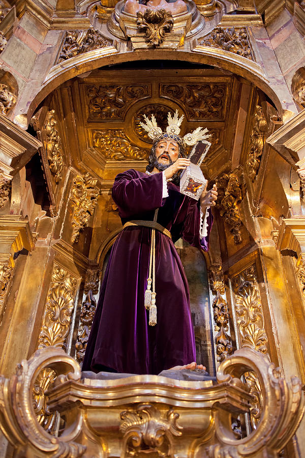 Seville Photograph - Jesus Christ Carrying The Cross by Artur Bogacki