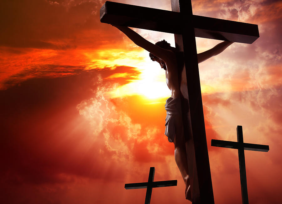 Jesus Christ crucified on the cross Photograph by Enter89