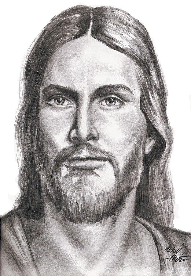 Jesus Drawing - Jesus Christ by Michael Mestas