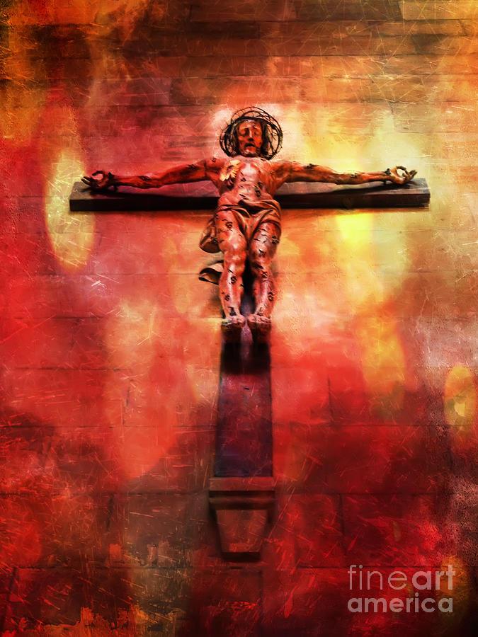 Jesus Christ On The Cross Digital Art