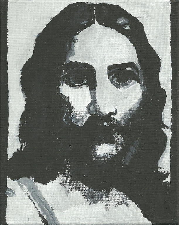 Black And White Painting - Jesus Christ by Terence Leano