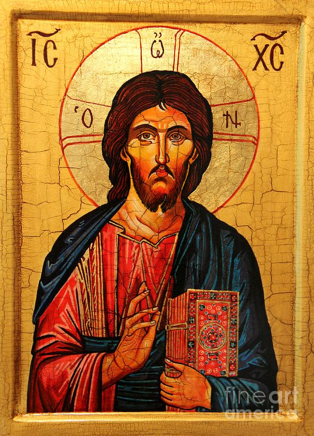 Jesus Christ The Pantocrator Icon Painting