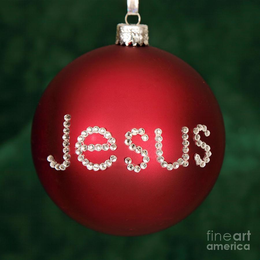 Jesus Christmas Ornament Photograph by Pattie Calfy