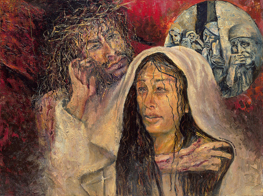 Jesus Comforts his Mother by Patricia Trudeau