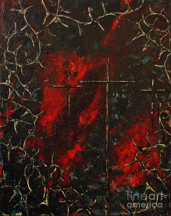 Abstract Painting Painting - Jesus Did It All For Us by Wayne Cantrell