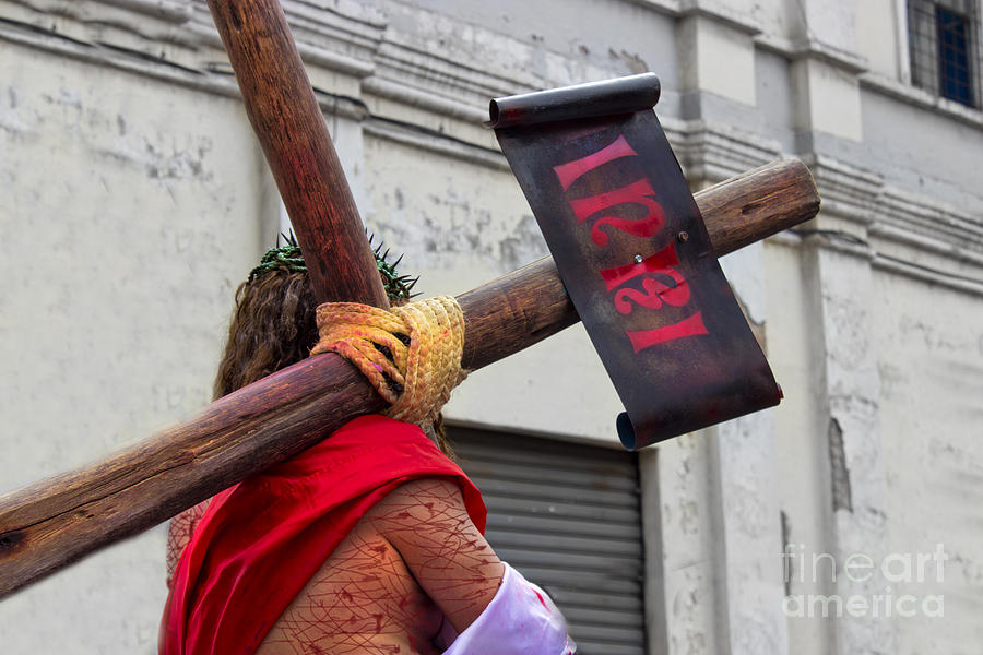 Easter Photograph - Jesus Died For Us IIi by Al Bourassa