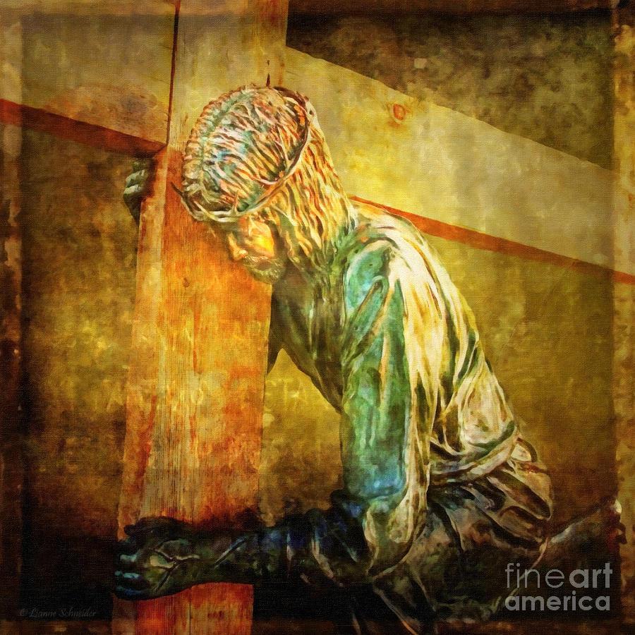 Jesus Digital Art - Jesus Falls Via Dolorosa 3 by Lianne Schneider