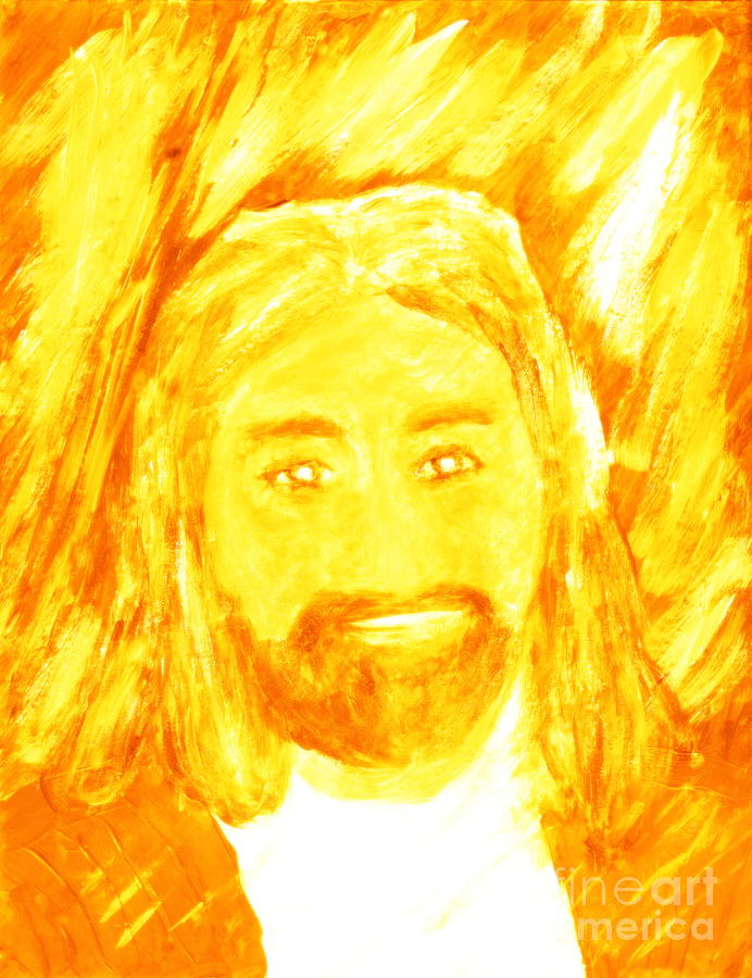 Jesus Christ Painting - Jesus Is The Christ The Holy Messiah 1 by Richard W Linford