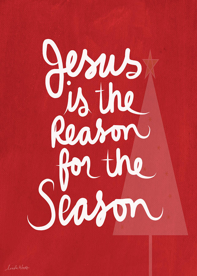 Jesus Is The Reason For The Season- Greeting Card Mixed Media