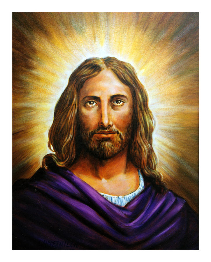 Jesus Painting - Jesus by John Lautermilch