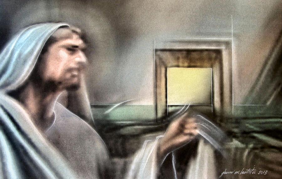 Jesus Mixed Media - Jesus - Knocking 2013 by Glenn Bautista