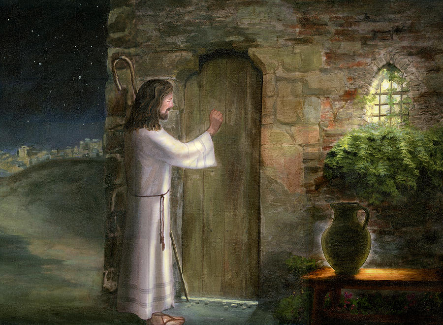 Jesus Knocking On The Door Painting by Cecilia Brendel