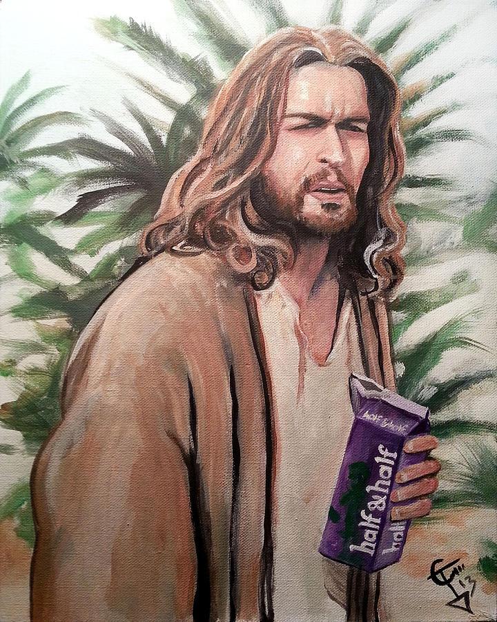 The Big Lebowski Painting - Jesus Lebowski by Tom Carlton
