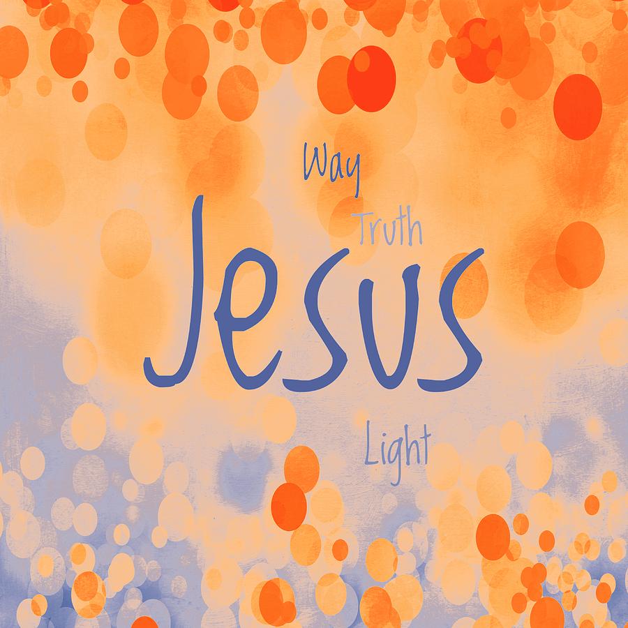 Advocate Mixed Media - Jesus Light 2 by Angelina Vick