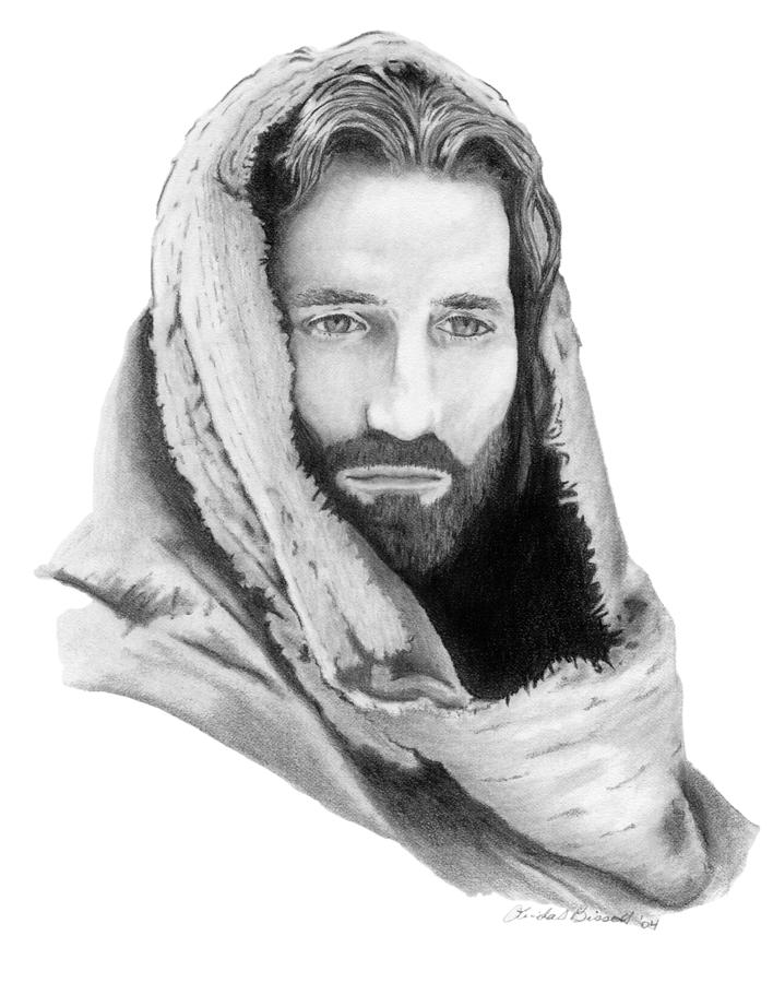 Jesus Drawing - Jesus by Linda Bissett