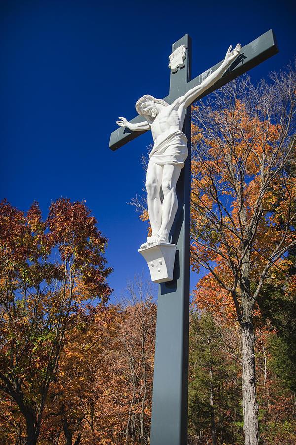 Angel Photograph - Jesus On The Cross by Adam Romanowicz